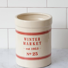 Audrey's Winter Market Pottery Canister