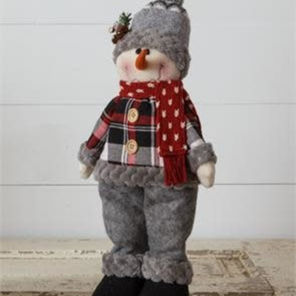 Audrey's Cozy in Plaid Standing Snowman