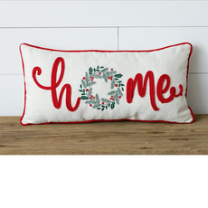 Audrey's Home Wreath Holiday Pillow