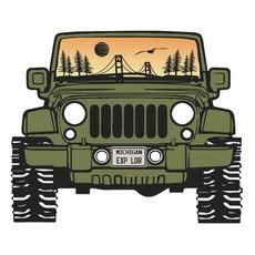 Outdoor Beerdsman Jeep the Mac Michigan Decal