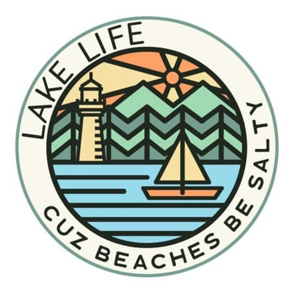 Outdoor Beerdsman Lake Life Cuz Beaches Be Salty Decal