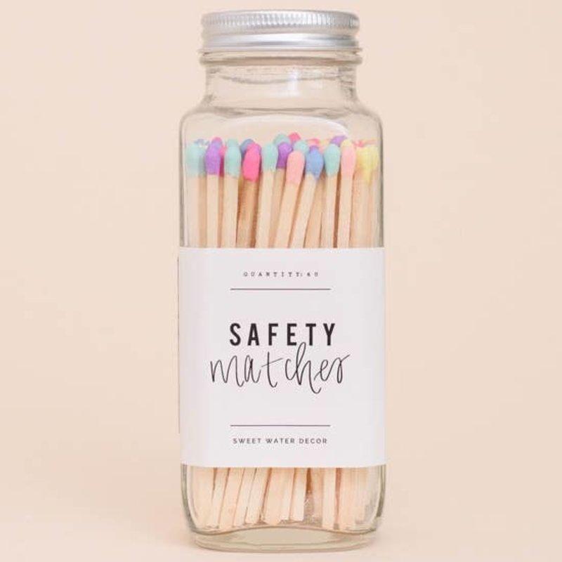 Sweet Water Decor Rainbow Safety Matches - Glass Jar
