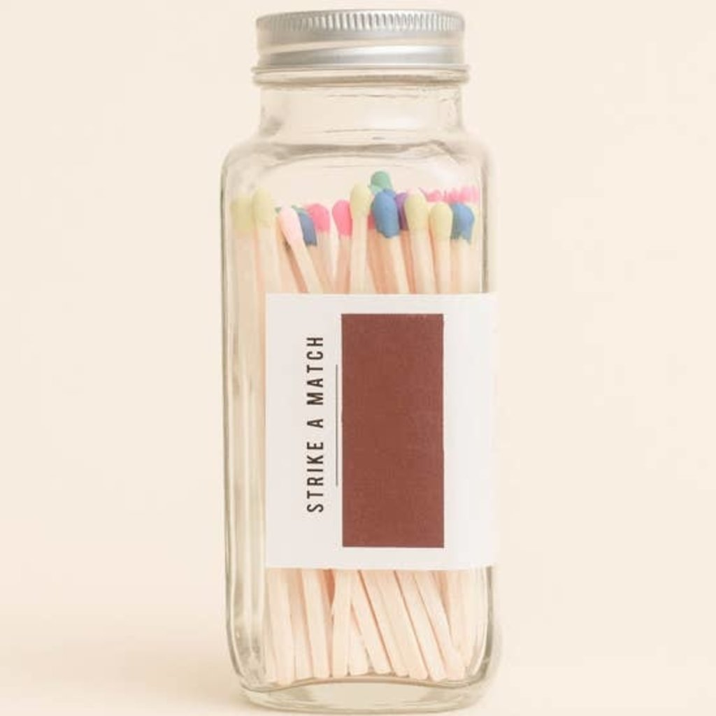 Sweet Water Decor Rainbow Safety Matches - Glass Jar