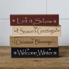 Audrey's Mini Message Blocks - Seasons Greetings