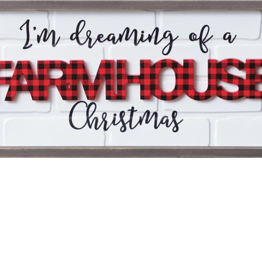 """Audrey's 10""""x24"""" Dreaming of Farmhouse Christmas Sign"""