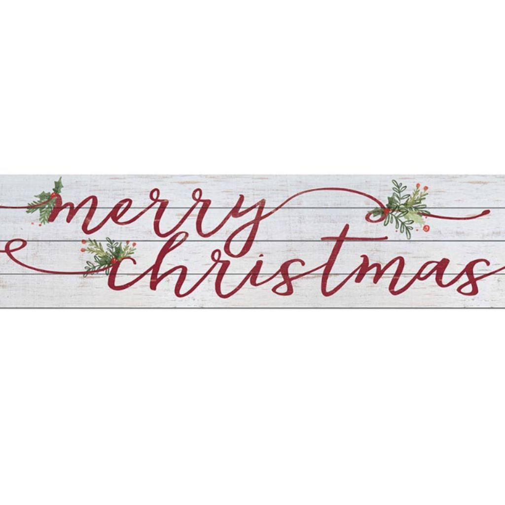 "Kindred Hearts 40""x10"" Merry Christmas Slatted Sign"