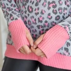White Birch Pink Leopard Hooded Sweater (S-3XL)