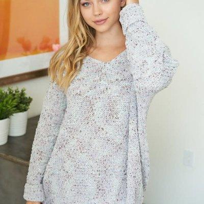 White Birch Grey & Teal Soft Sweater (S-3XL)