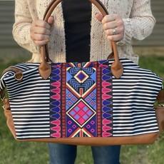 Bag Boutique Black Stripe Aztec Bag