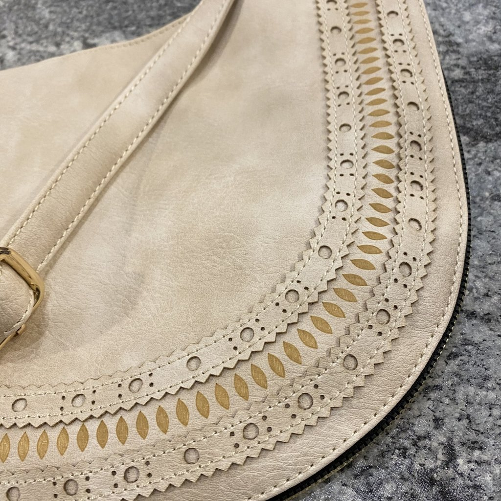 Bag Boutique Boho Handbag with Long Strap (Black, Coral, Ivory, Tan, Taupe)