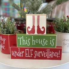 Crafts with a Side of You Elf Surveillance Stacker Sign