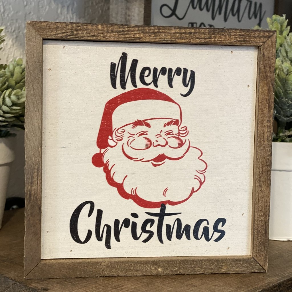 Driftless Studios 6x6 Santa Christmas Wood Sign