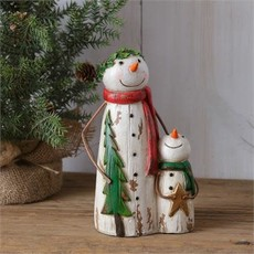 Audrey's Snowmen - Holding Star and Tree