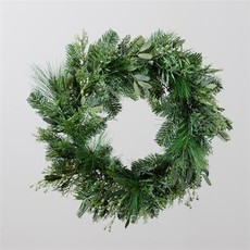 "Audrey's 22"" Winter Evergreen and Cedar Wreath"
