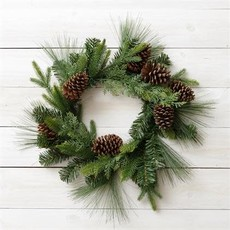 Audrey's Pinecone Assorted Greens Wreath