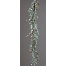 Audrey's Frosted Evergreens Snowflake Garland