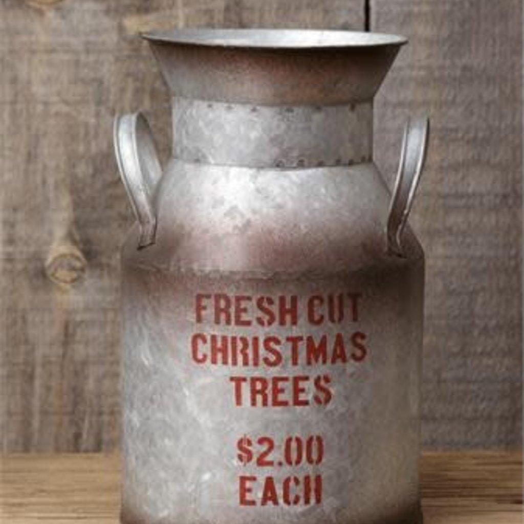 Audrey's Fresh Cut Christmas Trees Metal Pail