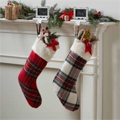 MUDPIE Plaid Tartan Stockings (Red or White)