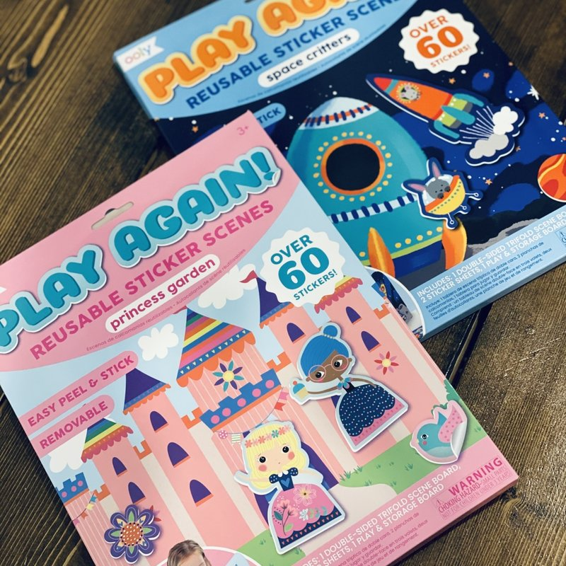 OOLY Play Again! Reusable Sticker Scene Books (2 Options)