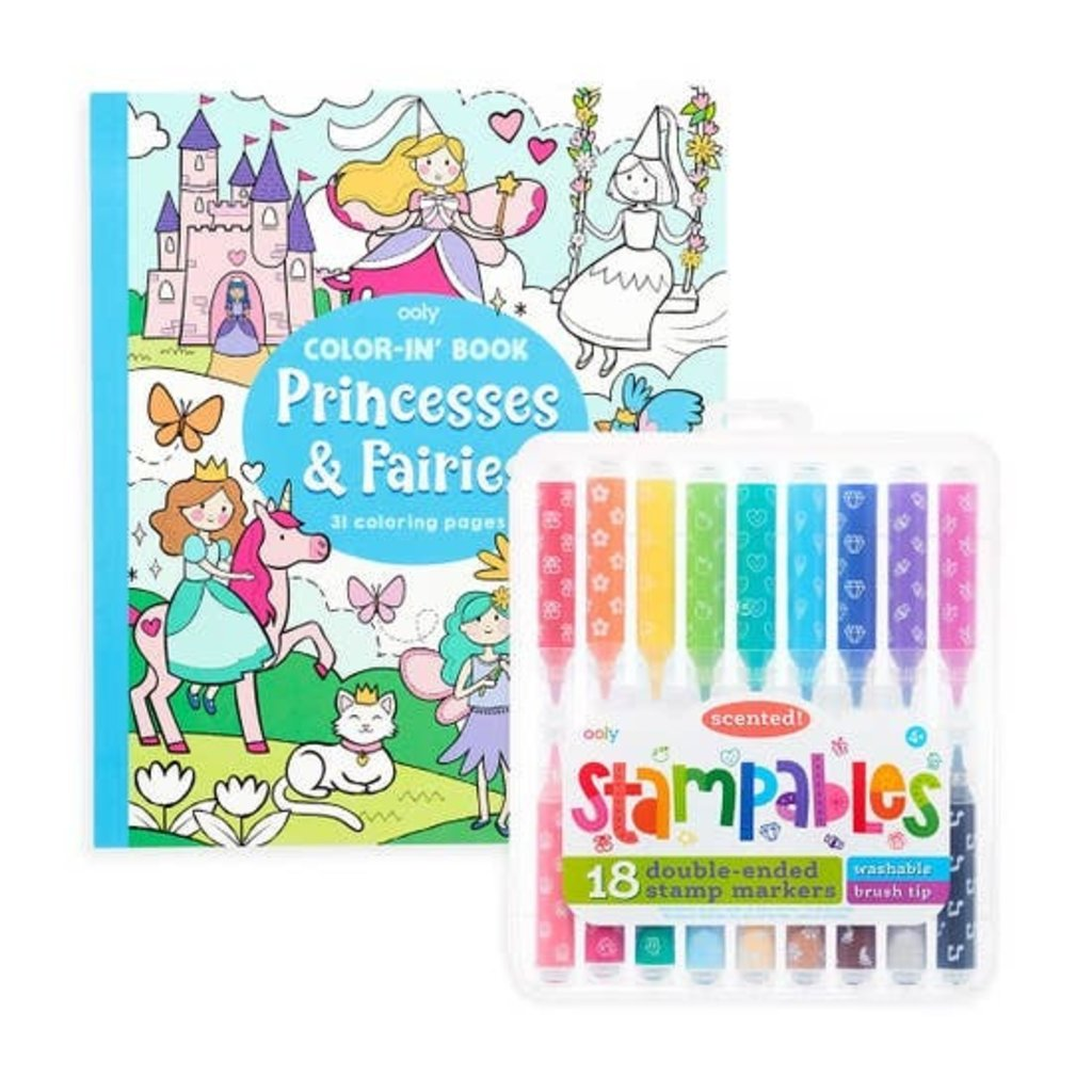 OOLY Princesses & Fairies Stampables Coloring Pack