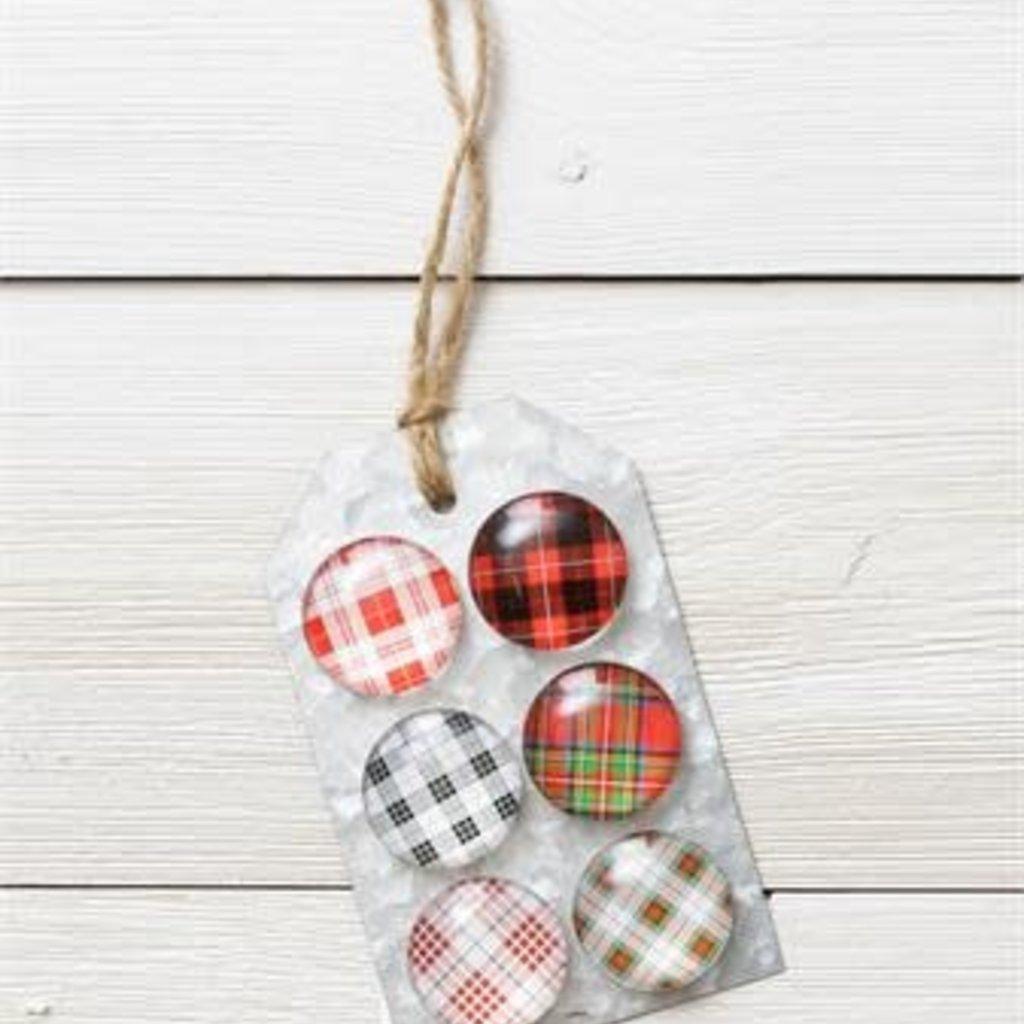 Audrey's Plaid Magnets Set of 6