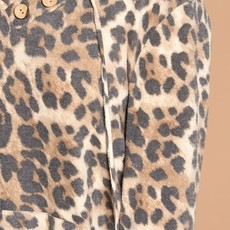 Oddi Brown Brushed Leopard Hoodie (S-3XL)