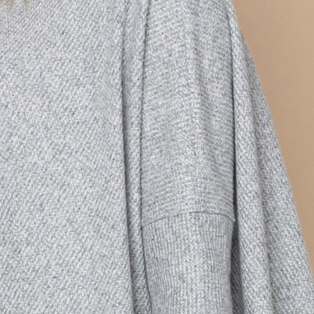 Oddi Heather Grey Heavy Waffle Knit Tunic (S-3XL)