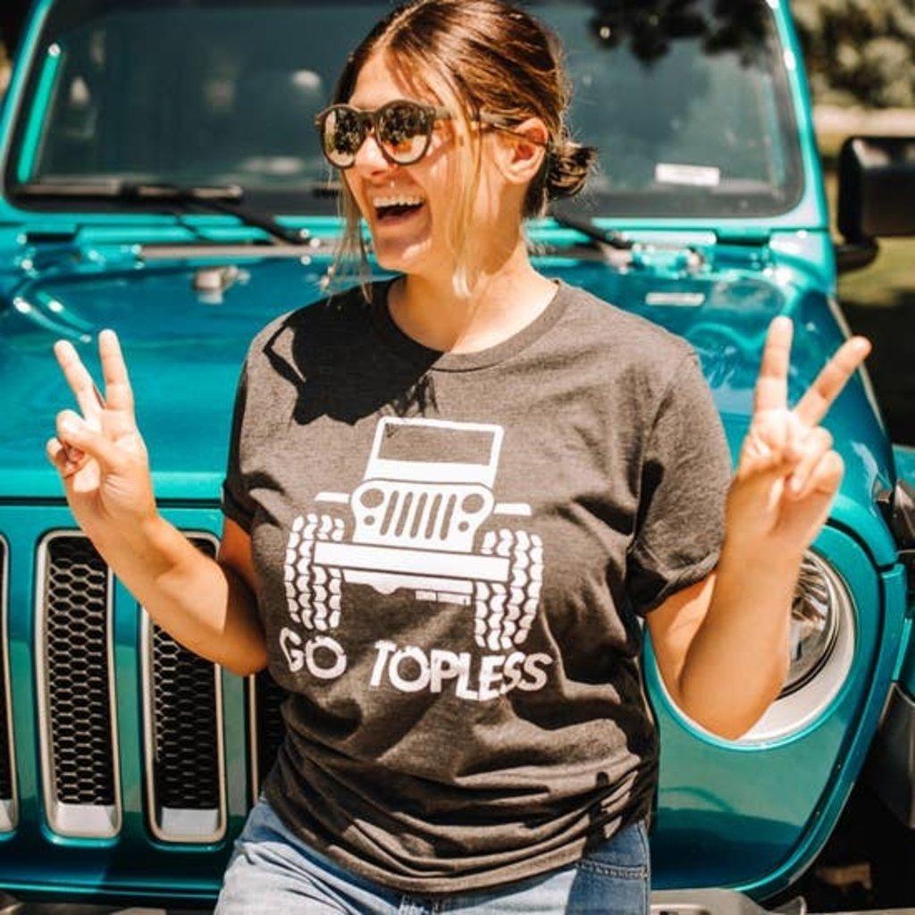 Lemon Lorraine Charcoal Go Topless Jeep Tee (2XL & 3XL)