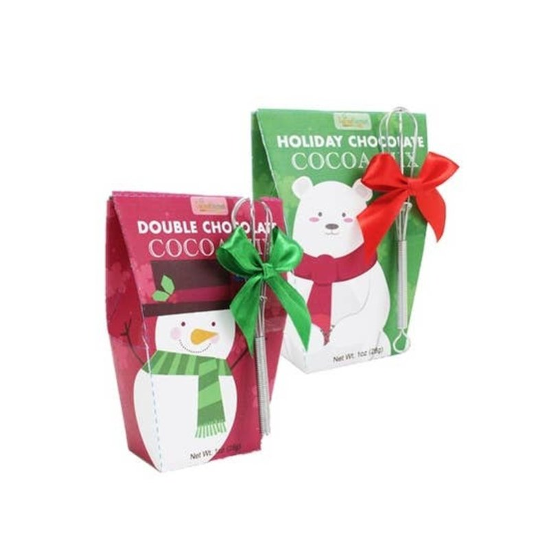 Too Good Gourmet Santa's Friends Cocoa Mix with Whisk (Polar Bear & Snowman)