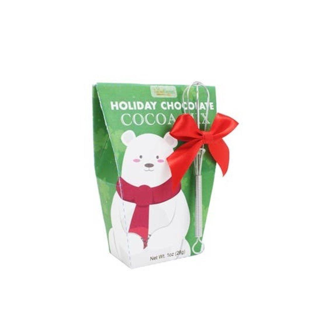 Too Good Gourmet Santa's Friends Cocoa Mix with Whisk (Polar Bear & Snowman)