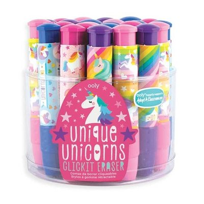 OOLY Unicorn Click It Erasers (4 Colors)