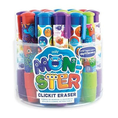 OOLY Monster Click It Eraser (4 Colors)