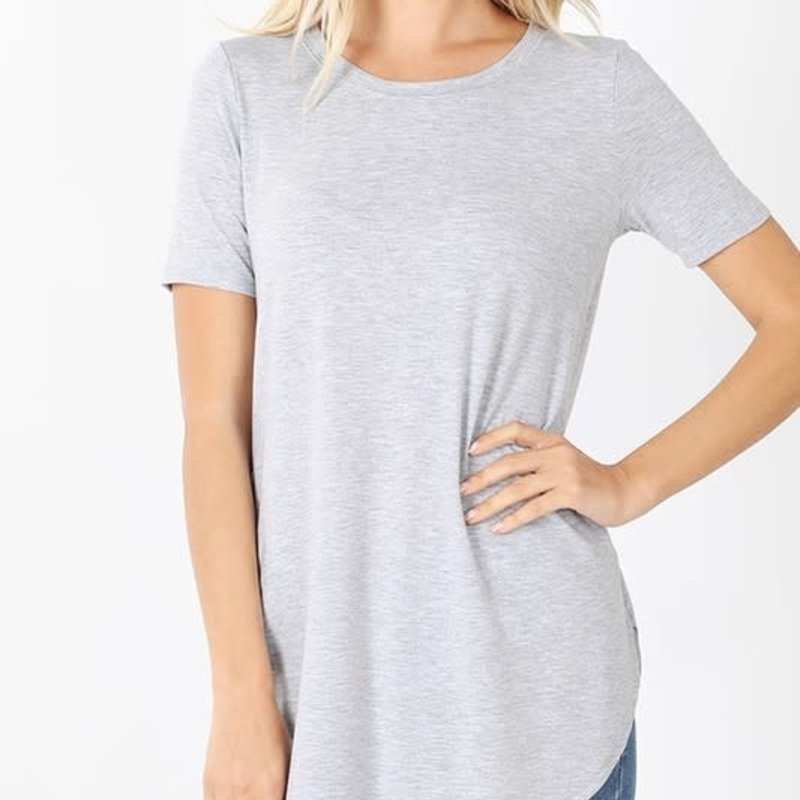 Zenana Grey Relaxed Tee *DOOR BUSTER* (S-3XL)