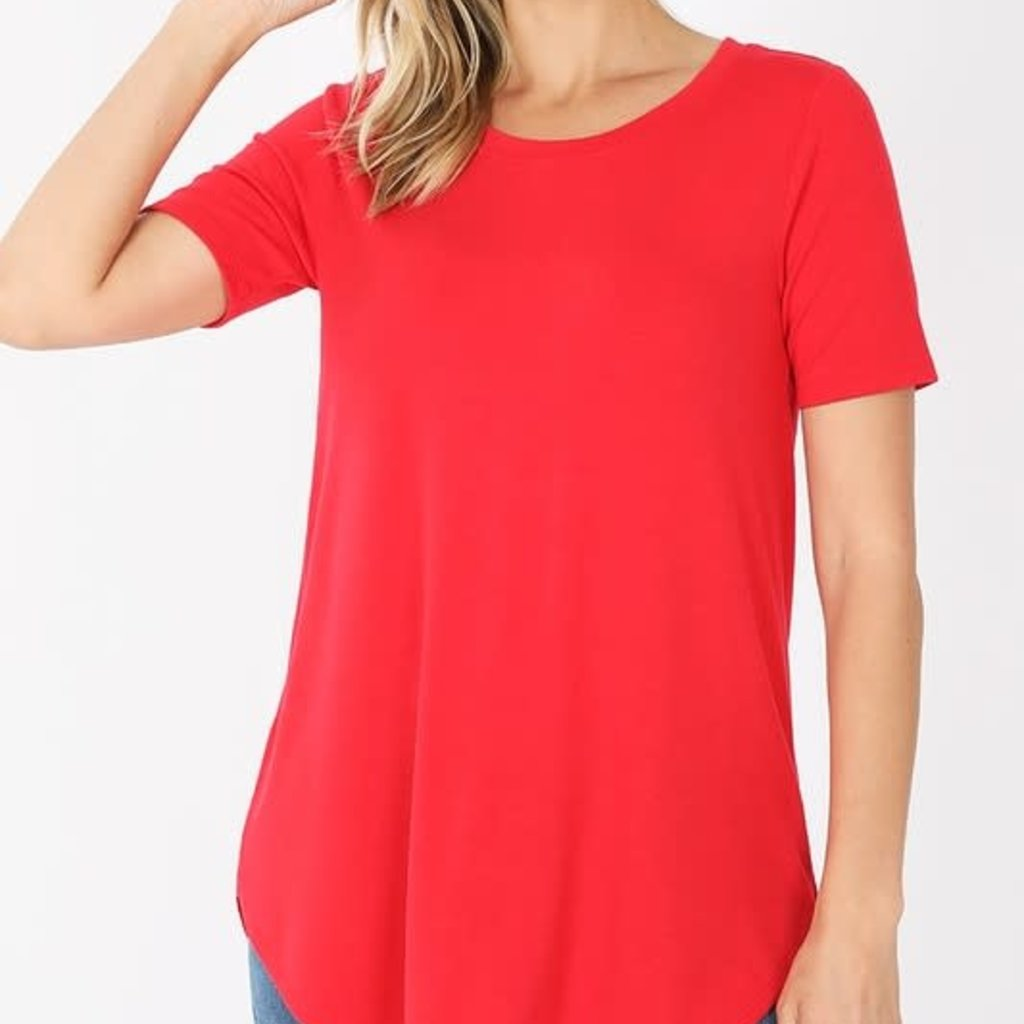 Zenana Red Relaxed Tee (S-3XL)