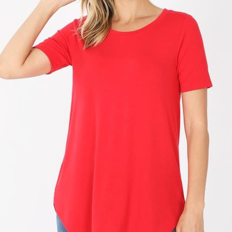 Zenana Red Relaxed Tee *DOOR BUSTER* (S-3XL)
