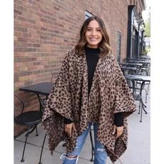 Panache Leopard Blanket Cape Poncho *DOOR BUSTER*