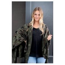 Panache Green Camo Blanket Cape Poncho *DOOR BUSTER*