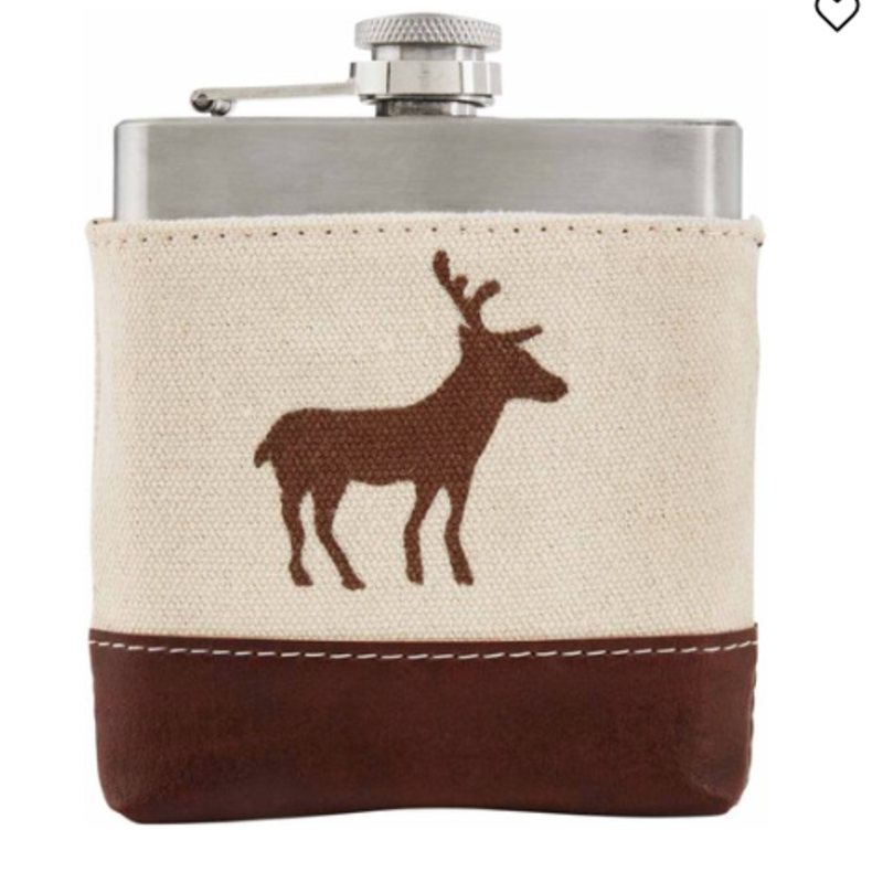 MUDPIE Mudpie Standing Deer Canvas Flask