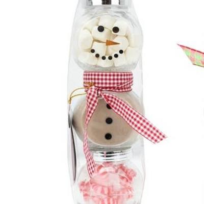 Too Good Gourmet Snowman Glass Jar Cocoa Set (7oz)
