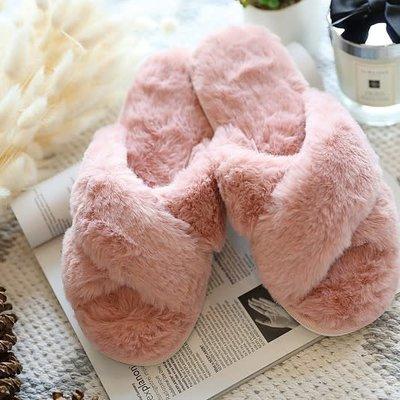 Wanna B Pink Criss Cross Slippers