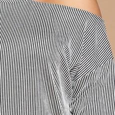 Oddi Black Striped One Shoulder Top (S-3XL)