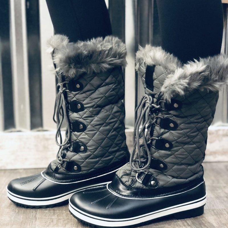 Insignia Grey  Faux Fur Boots (6-10)