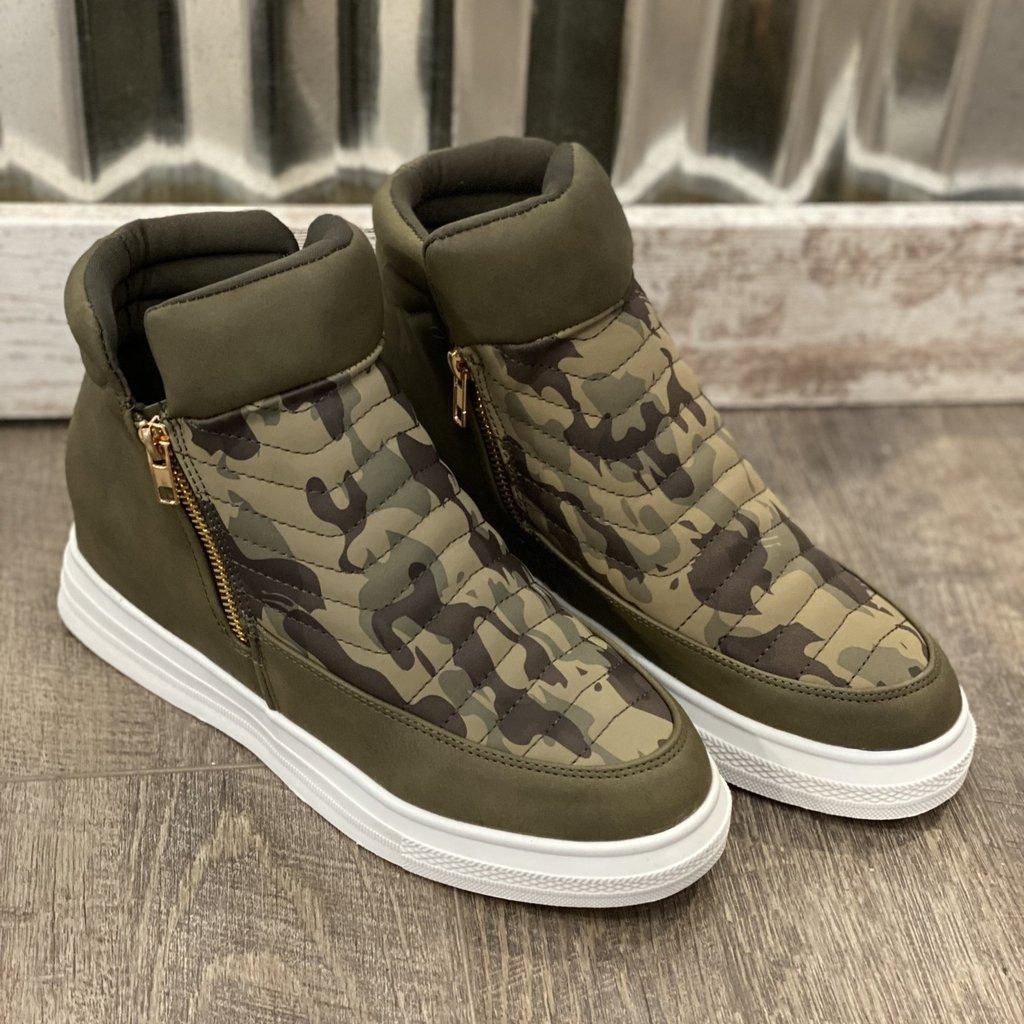 Yoki Camo Wedge Sneaker (6-10)