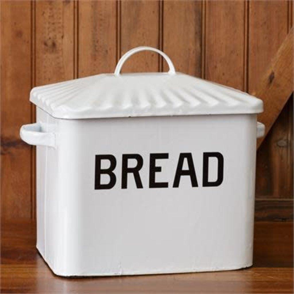 Audrey's White Enamel Bread Box