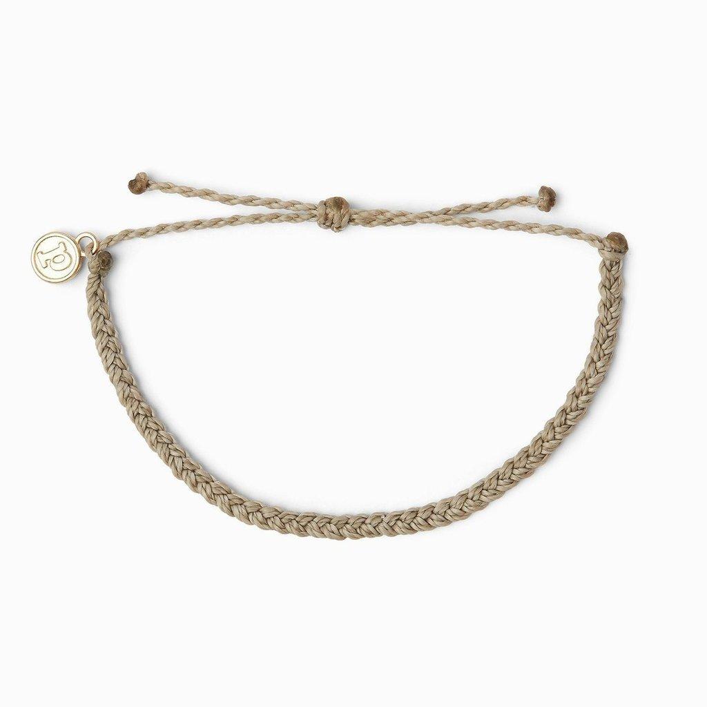 Puravida Pura Vida Mini Braided Gray Bracelet