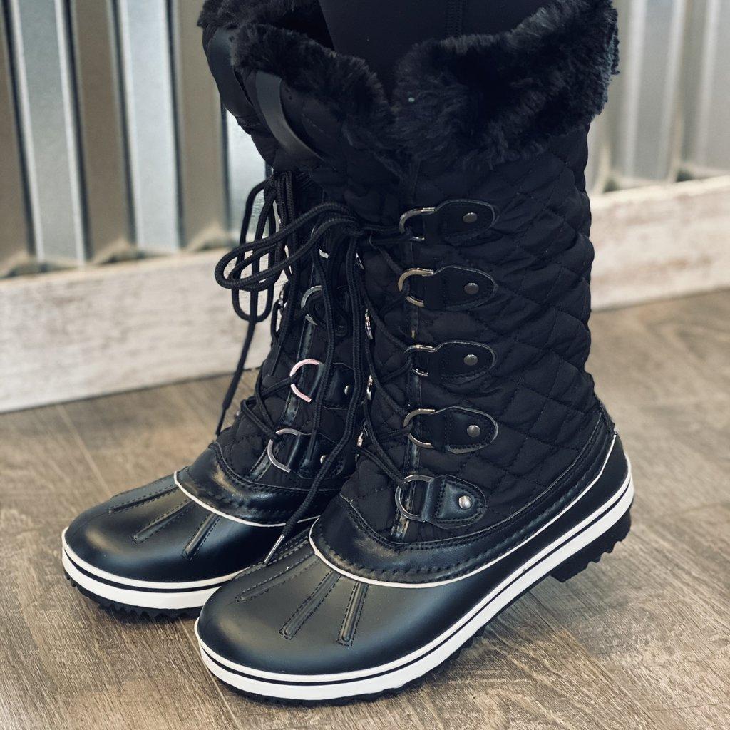 Insignia Black  Faux Fur Boots (6-10)