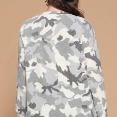 Oddi Gray Brushed Camo Hi-Lo Sweater (S-3XL)