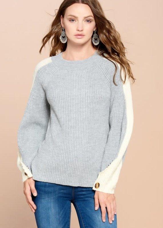 Oddi Gray Ribbed Sweater (2XL/3XL ONLY)