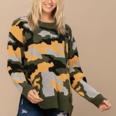 Oddi Green Yellow Camo Sweater (S-3XL)