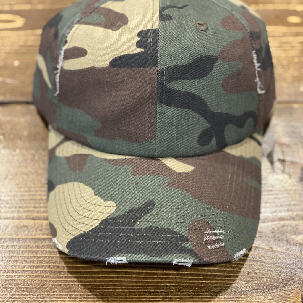 Ocean & 7th Camo Distressed Hat